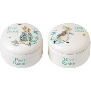 Beatrix Potter Peter Rabbit First Tooth & First Curl Keepsake Boxes