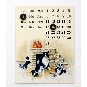 Border Fine Arts Studio Collection Viewpoint Magnetic Calendar - Collies