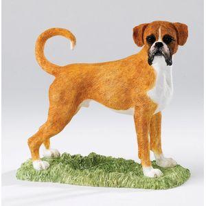 Border Fine Arts Studio Collection Figurine - Boxer Dog (Fawn & White)