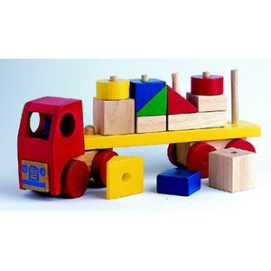 Wooden Toy Stacking Lorry