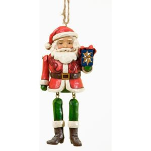 Heartwood Creek Hanging Ornament Santa Dangling Legs