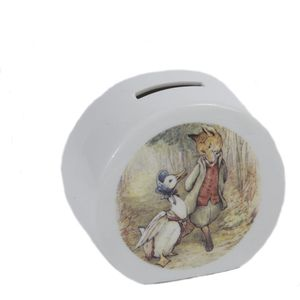 Reutter Porcelain Beatrix Potter Money Box - Jemima Puddle-Duck & Mr Fox