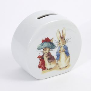 Beatrix Potter Benjamin Bunny & Peter Rabbit Money Box