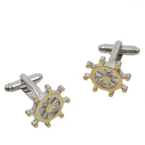 Golden Ships Wheel Cufflinks