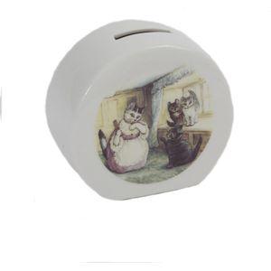 Reutter Porcelain Beatrix Potter Peter Rabbit Money Box - Tabitha
