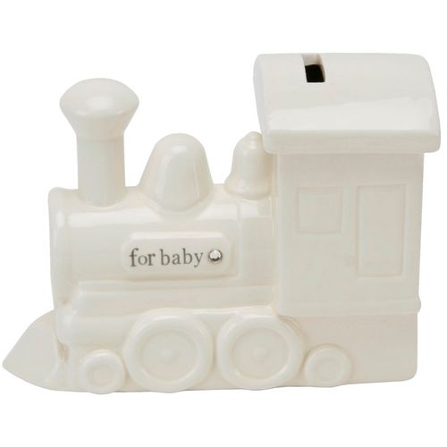 Ceramic Train Money Box ideal unisex Baby or Christening Gift