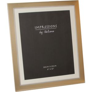 Two Tone Aluminium & Gold Photo Frame with Mount 8x10""
