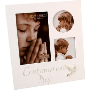 Juliana Impressions Collage Photo Frame with Dove - Confirmation Day