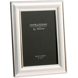 """Two Tone Silver plated Photo Frame 4x6"""""""