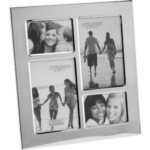 Silver plated Multi Aperture Collage Photo Frame