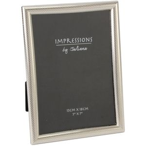 Juliana Impressions Silver Plated Textured Border Photo Frame 5x7""