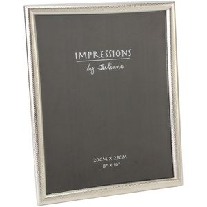 Juliana Impressions Silver Plated Textured Border Photo Frame 8x10""
