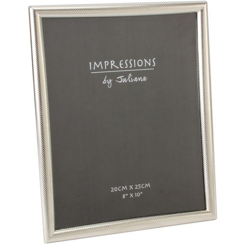 """Juliana Impressions Silver Plated Textured Border Photo Frame 8"""" x 10"""""""