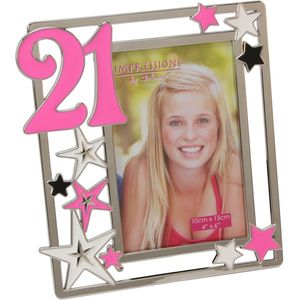 Silver plated Birthday Photo Frame with stars - 21