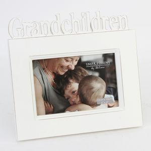 Grandchildren Shabby Chic Style Photo Frame 6x4""
