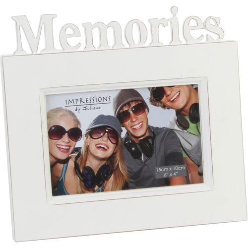 "Juliana Impressions Shabby Chic Style Photo Frame 6"" x 4"" - Memories"