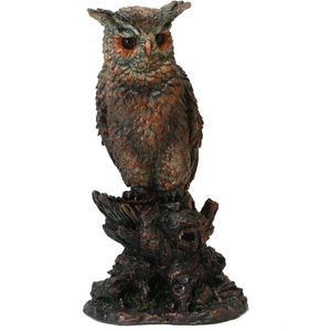 Nature craft Owl figurine sitting