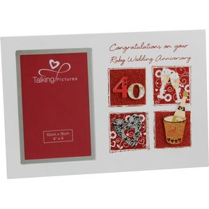 Talking Pictures Ruby Wedding Anniversary Photo Frame