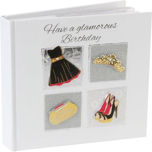 "Talking Pictures Photo Album Holds 50 6"" x 4"" Prints - Have a Glamorous Birthday"