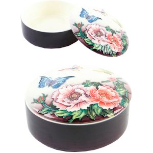 "Old Tupton Ware Butterflies Collection - Round Trinket Box (4.5"")"
