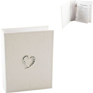 Wedding Planner Ivory PU Leather with Swirling Hearts
