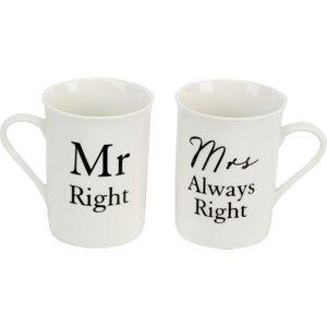 Juliana Amore 2 Mugs Gift Set - Mr Right & Mrs Always Right