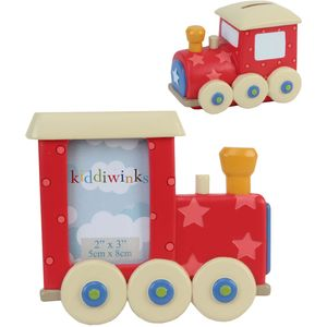 Kiddiwinks Train Photo Frame & Money Bank Gift Set