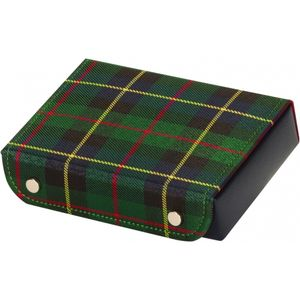 Mele & Co Gents Cufflink Box - Green Tartan