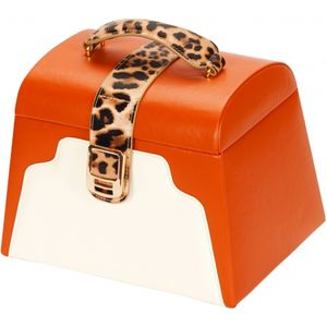 Mele & Co Leatherette Jewellery Case - Leopard Print Accent Lynne