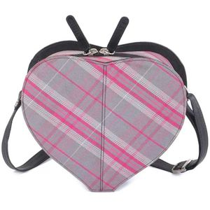 Pell Mell Leather Sweet Heart Bag - Pink Tartan