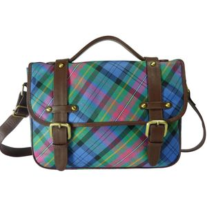 Pell Mell Jenni Satchel Purple/Blue Tartan