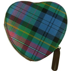 Pell Mell Sweet Heart Coin Purse Purple/Blue Tartan