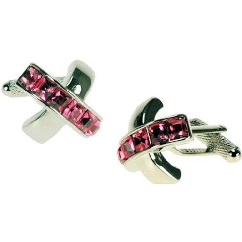 Red Rose Crystal cross Cufflinks