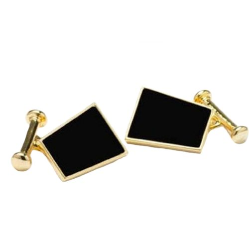 Gold and Black Onyx  Dress Cufflinks