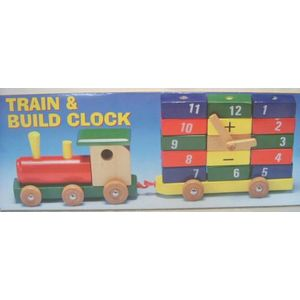 Wooden Toy Clock Train