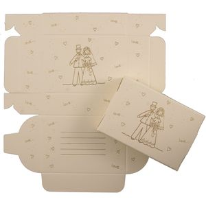 Cake Boxes - Gold Bride & Groom Design x48