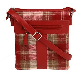 Abertweed Cross Body Bag (red)