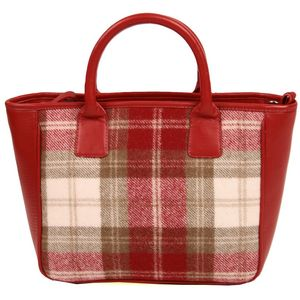 Mala Leather Abertweed Grab Bag - Red Tweed