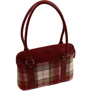 Mala Leather Abertweed Shoulder Bag - Red Tweed