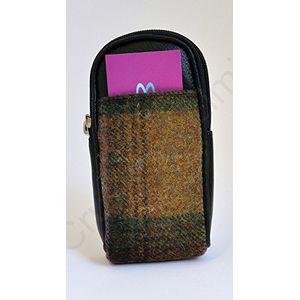 Mala Leather Abertweed Glasses Case - Green Tweed