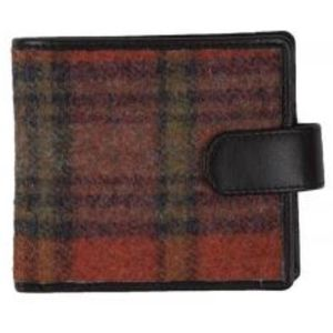 Mala Leather Abertweed Gents Tab Wallet - Orange Tweed