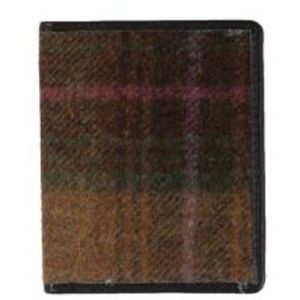 Mala Leather Abertweed Card Wallet - Green Tweed