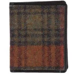 Mala Leather Abertweed Card Holder - Orange Tweed