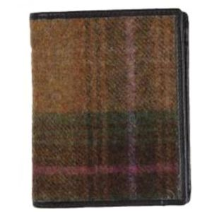 Mala Leather Abertweed Tall Wallet - Green Tweed