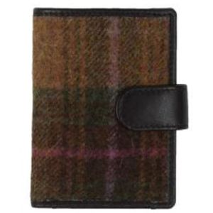 Mala Leather Abertweed Tall Card Wallet - Green Tweed