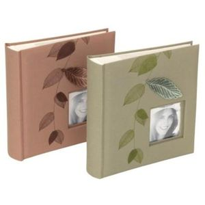 Kenro Summer Garden Leaf Collection Dusky Pink Photo Album - 200 Photos 6x4""
