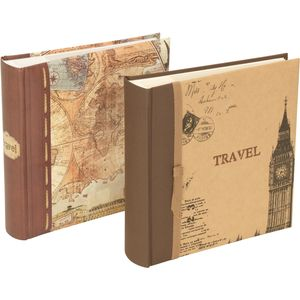 "Old World Map Photo Album - 200 6x4"" Photos"
