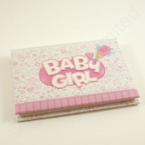 Baby Girl Pink Mini Photo Album 6x4""