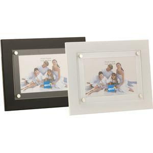 """Kenro Strata Collection Modern Photo Frame 7x5"""" - White"""