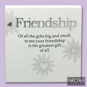Art of Arora Friendship Sentiment Wall Art